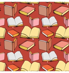 Seamless pattern with decorative books vector