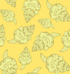 Sketch sea shell in vintage style vector