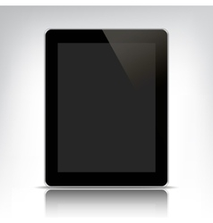 Black tablet pc with empty screen vector