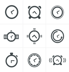 Time clock icons set design vector