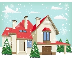 Typical american home in winter vector