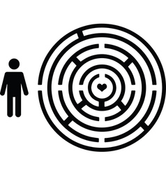 Pictogram people with love maze vector