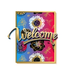 Welcome spring poster advertising of spring vector