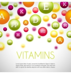 Vitamins and minerals background vector