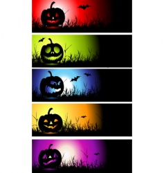 halloween banners vector image