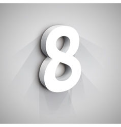 3d number eight vector