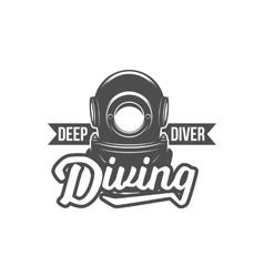 diving vintage labels logos and design elements vector image