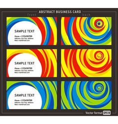 Abstract creative line business card template vector