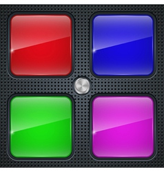 Application buttons template vector image vector image