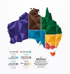 Australia Map Infographic Template geometric vector image