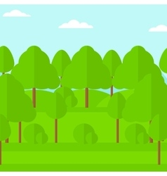Background of green forest vector image
