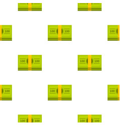 Bundle of money pattern flat vector
