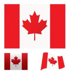 Canada flag set vector image vector image