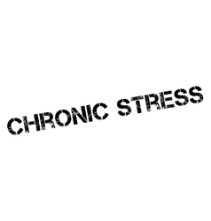 Chronic stress rubber stamp vector