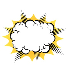 Cloud after the explosion vector image vector image