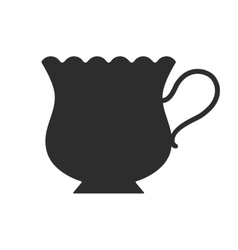 Coffee tea cup Mug for drinks Black silhouette vector image vector image