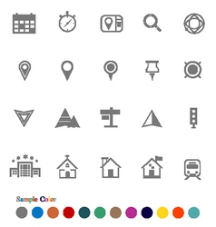 Collection icons set location icons vector