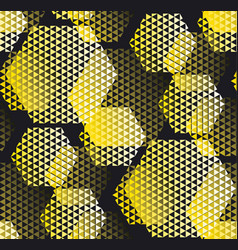 concept modern geometry pattern with yellow and vector image vector image