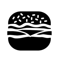 contour hamburger fast food icon vector image
