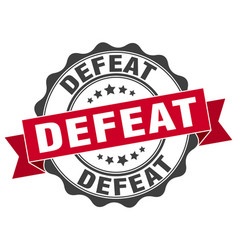Defeat stamp sign seal vector