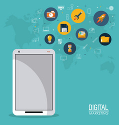 Digital marketing smartphone mobile business vector