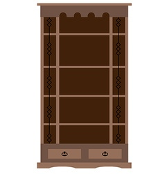 Empty bookcase vector image