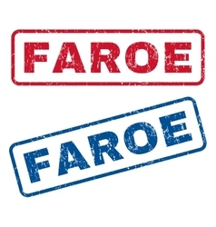 Faroe Rubber Stamps vector image vector image