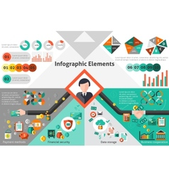 Finance infographic set vector image vector image
