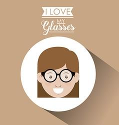 Glasses design vector image