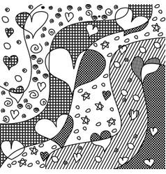 heart zen tangle zendoodle love vector image