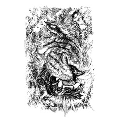 Hidden lion vector