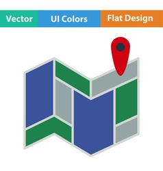 Icon of map scheme vector image