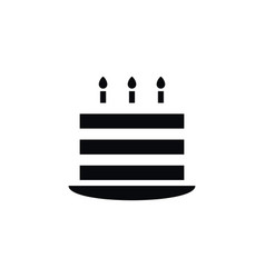 isolated pastry icon birthday element can vector image