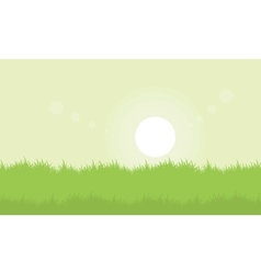 Landscape of grass at spring vector
