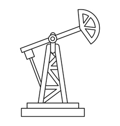 Oil rig icon outline style vector