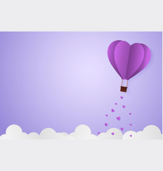 Paper style love of valentine day violet pantone vector