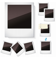 Photo frames isolated over white vector image