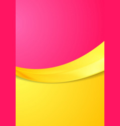 Pink and orange contrast gradient color wavy vector