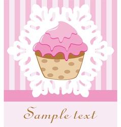 retro cupcake vector image