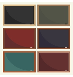 Set of school boards vector