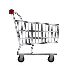 Shopping cart market digital online concept vector