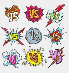 versus doodle patch set vector image vector image