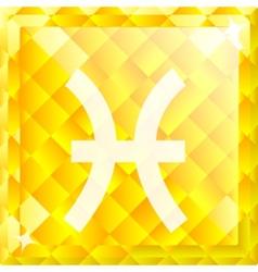 Zodiac Pisces vector image vector image