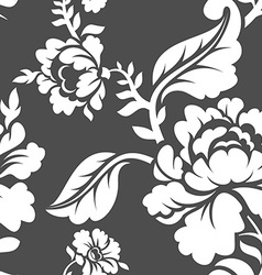 White rose seamless pattern retro floral texture vector