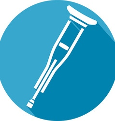 Metal crutches icon vector