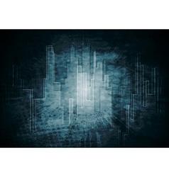 Dark tech background vector