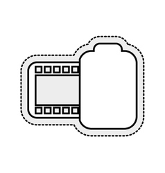 Photo roll isolated icon vector
