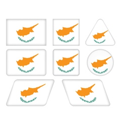 Buttons with flag of cyprus vector