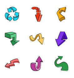 Cursor icons set cartoon style vector