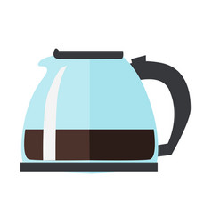Coffee or tea pot isolated on white background vector